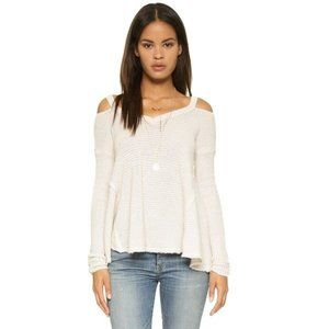 Free People Moonshine Shoulder Cut-Out Sweater